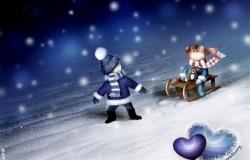 Обои о любви: Winter Lovestory