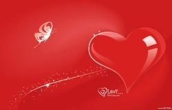 Обои о любви: Алое сердце