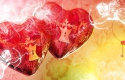 Обои о любви: Сердечки