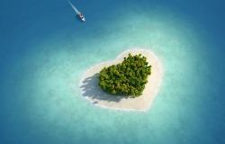 Обои о любви: Остров в форме сердца