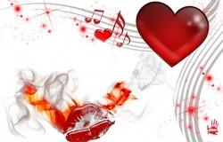 Обои о любви: Музыка любви