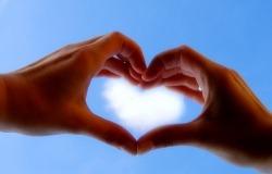 Обои о любви: Сердце в небе