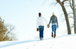 Обои о любви: Зимняя прогулка