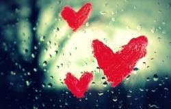 Обои о любви: Сердечки на окне