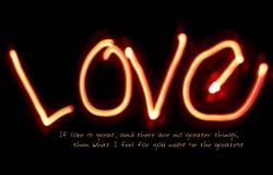 Обои о любви: Любовь из огней