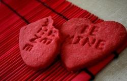 Обои о любви: Печенье-сердечко