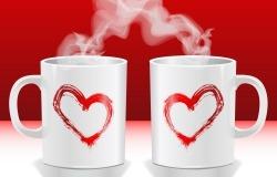 Обои о любви: Кружки для влюбленных
