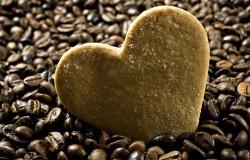 Обои о любви: Сердце в кофейных зернах