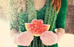 Обои о любви: Зимний арбуз