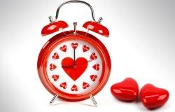 Обои о любви: Влюбленные часы