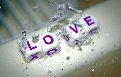 Обои о любви: Love из кубиков