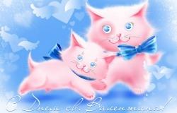 Обои о любви: Розовые котики