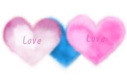 Обои о любви: Пушистые сердечки