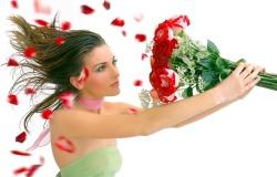 Обои о любви: Букет роз