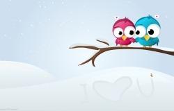 Обои о любви: Влюбленные птички