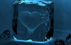 Обои о любви: Сердце во льду