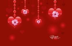 Обои о любви: Сердца