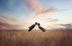 Обои о любви: Осенний поцелуй