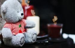 Обои о любви: Серый медвежонок