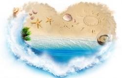 Обои о любви: Морское сердце
