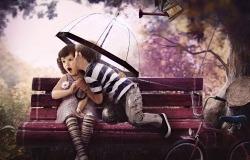 Обои о любви: Влюбленные малыши