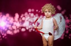 Обои о любви: Малыш Купидон