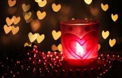 Обои о любви: Праздничная свеча
