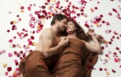 Обои о любви: В лепестках роз