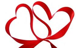 Обои о любви: Сердце из ленточек