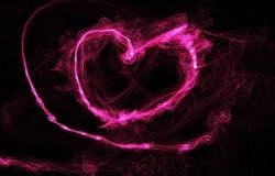 Обои о любви: Лазерное сердце