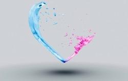 Обои о любви: Сердце из красок