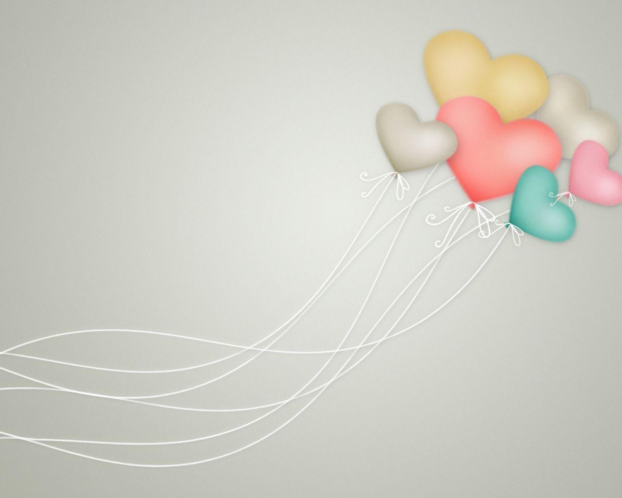 Открытки с сердечками и шариками