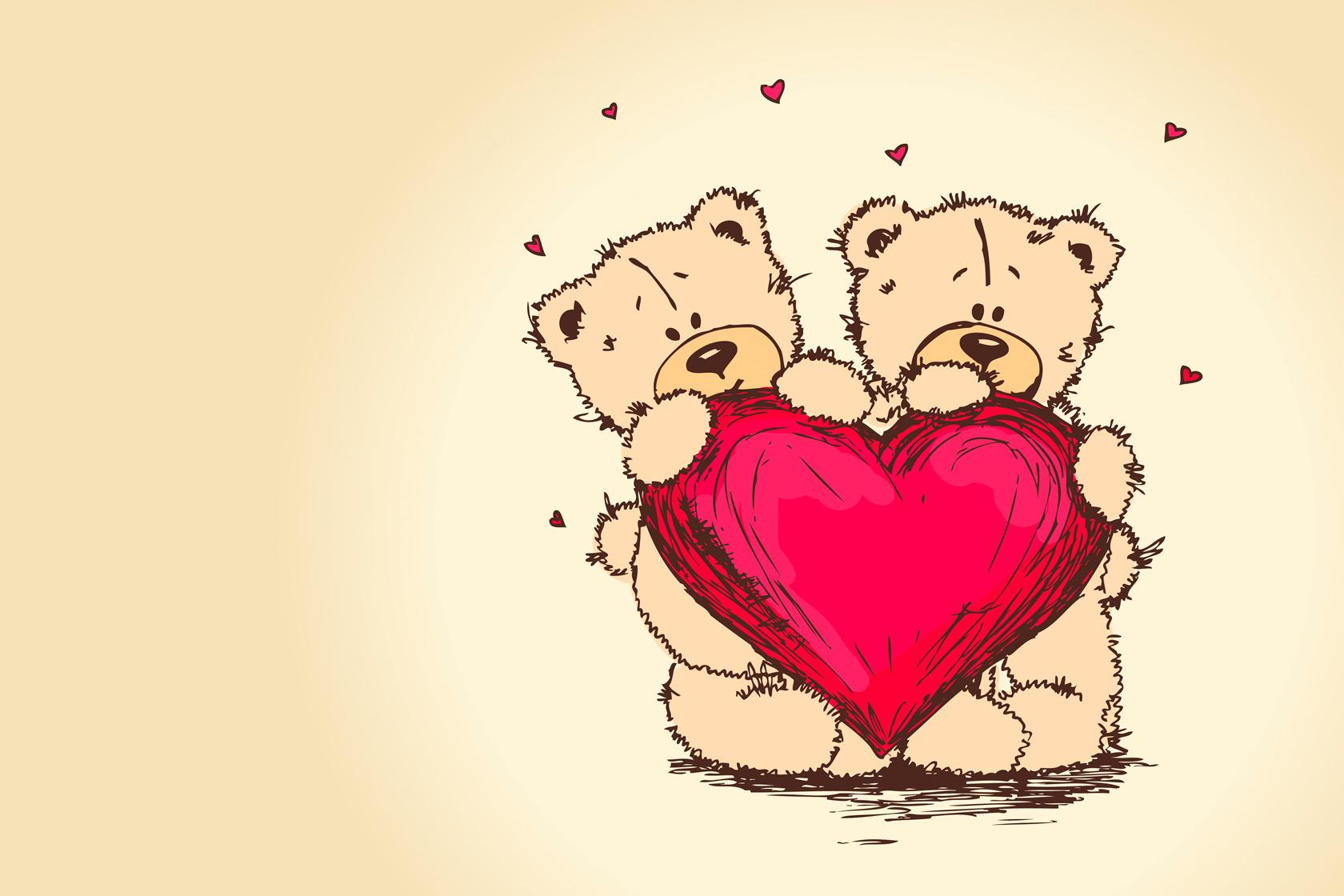 Картинки с днем влюбленных мишки