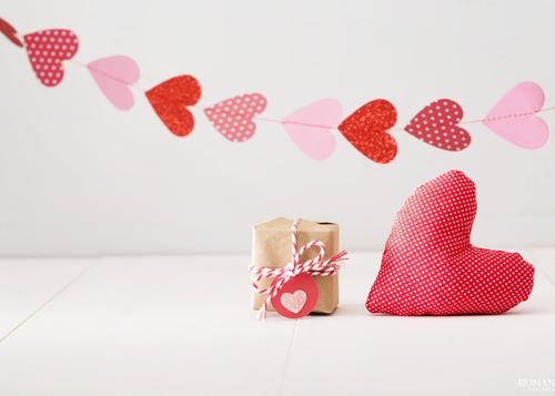 День святого Валентина: Гирлянда из сердечек