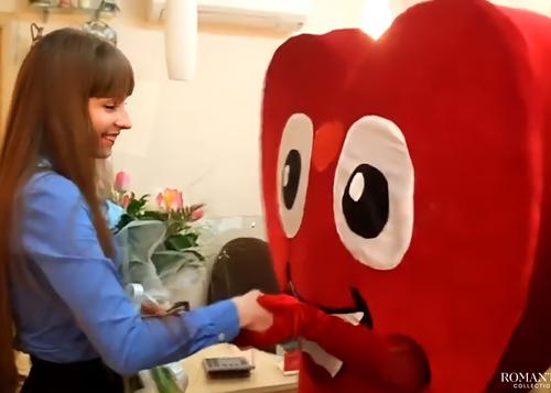 Видео: Сердце-курьер растопит сердце вашей любимой