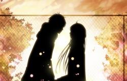Обои о любви: Влюбленные анимэ