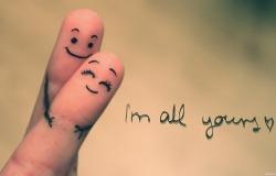 Обои о любви: Влюбленные пальчики