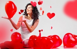 Обои о любви: День святого Валентина: шарики