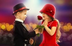 Обои о любви: Влюблённые дети